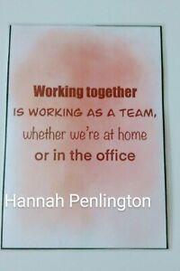 Handmade, Inspirational, Team Building, Working together, Gift, craft, card