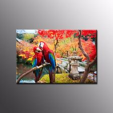 Modern Canvas Prints Picture Parrot Poster Wall Decor for Living Room