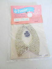 """Vintage 1950's Silver Beaded Collar Necklace for 15""""-20"""" Fashion Doll Mip"""