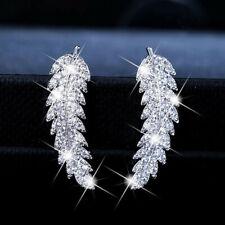 White Sapphire Free Shipping A Pair/set Gorgeous 925 Silver Stud Earrings Women