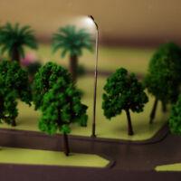 10 White LED Light Metal Street Lamppost Model Train Layout Scenery HO Scale