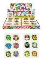 JUNGLE KIDS TEMPORARY TATTOOS Assorted Designs Party Bag Filler Loot Girls Boys
