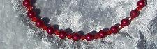 Perlenkette rot metallic Perlen rote klare Bicone Braut Hochzeit Abendkleid