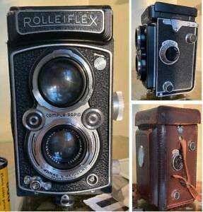 GREAT VINTAGE ROLLEIFLEX AUTOMAT 6x6 K4 / 50 TWIN LENS REFLEX /TLR CAMERA & CASE