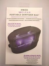 Portable Sanitizer Bag UV Clean HoMedics Kills Bacteria Clean Phone Sunglasses