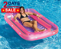 LUXURY & HUGE Suntan Tub Inflatable Pool Floats Hammock Lounge Bed Chair Adults