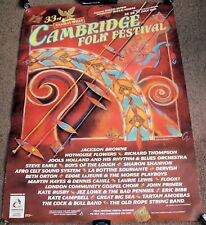 CAMBRIDGE FOLK FESTIVAL 33rd EVENT SUPERB RARE PROMO POSTER 25-26-27 JULY 1997