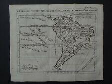 1723 Atlas DELISLE map  SOUTH AMERICA - Amerique Meridionale - De lisle