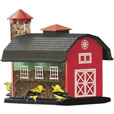 Red Barn Bird, Finch, Robin Seed Feeder Cherry Valley Finch Thistle Combo Feeder