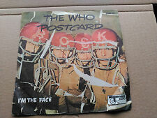 SINGLE THE WHO - POSTCARD / I'M THE FACE - TRACK RECORD FRANCE 1974 VG/VG+