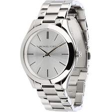 New Michael Kors Stainless Steel Silver MK3178 Women's Slim Runway Watch