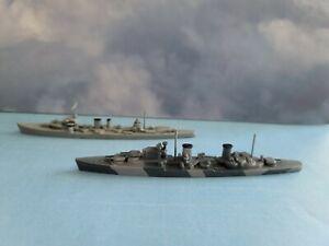 Waterline Ships Lead WWII Model 1/1200-1/1250 Two Framburg British Cruisers