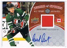 2010 Upper Deck World of Sports All-Sport Autograph Jersey Colten Teubert 03/25