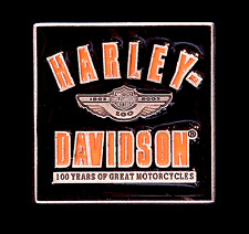 HARLEY DAVIDSON 100TH ANNIVERSARY VARSITY PEWTER PIN **OBSOLETE ITEM **