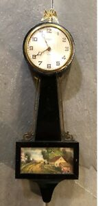 Gilbert 1807 8 Day Miniature Mechanical Banjo Wall Clock
