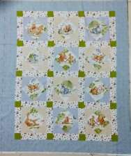Rare! Disney Winnie The Pooh Day In The Park Cot Crib Baby Panel Quilt Fabric