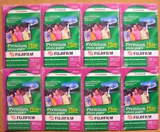 "FUJIFILM PREMIUM PLUS PHOTO PAPER Lot 8 pk of 20 = 160 GLOSSY SHEET 4'x6"" FUJI"