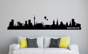 Skyline Dortmund Wohnzimmer 266 Fußball Aufkleber Stadt Wandaufkleber WandTattoo