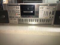 Casio Model KX-101 Rare Stereo Boombox W/Built-in Keyboard Synthesizer Combo
