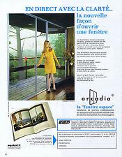 PUBLICITE ADVERTISING 054 1969 ARCADIA fenêtres et portes en aluminium