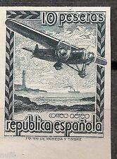 Spain Edifil # NE 38 s ** Sin Charnela MNH no emitido borde inferior de hoja