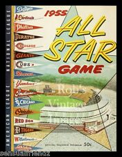 Baseball All-Star Game Program Poster Art Print  Milwaukee Braves 1955