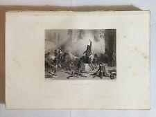 GRAVURE THIERS INSURRECTION DE MADRID 1861 NAPOLEON TRES BON ETAT