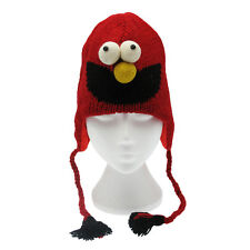 Fun Elmo Handmade Winter Woollen Animal Hat with Fleece Lining, One Size, UNISEX