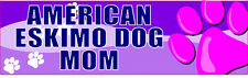 AMERICAN ESKIMO DOG MOM CUTE PET DOG STICKER