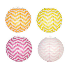 "Set of 4 pcs. 14"" Chinese Japanese Paper Lantern Wedding Birthday Decor Chevron"