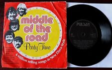 """MIDDLE OF THE ROAD PARTY TIME THE MILLION SELLERS  7"""" PULSAR (1981) EX"""