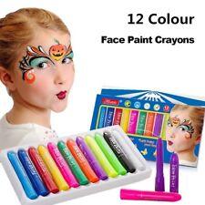 12 Colours Face Body Painting Crayon Set Colour Kit Sticks Party Kids Face Paint