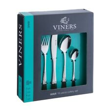 Viners Wave 16 Piece 18/0 Stainless Steel Cutlery Set - 25 Year Guarantee