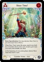 Show Time! - Foil -Secret Rare Flesh and Blood Welcome to Rathe Blue - NEAR MINT