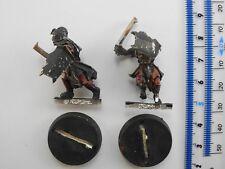 2 Uruk Hai WARRIORS METAL seigneur des anneaux LOTR EVIL ARMY WARHAMMER 21