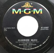 Jazz 45 Richard Burton - Married Man / Finding Words For Spring On Mgm Records