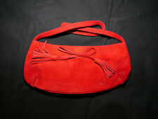 LK Bennett Red Suede small bag with bow