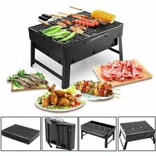 Portable Fold Barbecue Charcoal Grill Stove Shish Stainless Steel Bbq Patio Camp