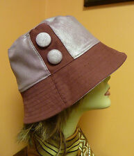 hat USA made bucket 100% cotton burgundy size M L buttons custom AN' Exclusive