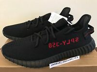 ADIDAS YEEZY BOOST 350 V2 BRED SUPPLY US 12.5 UK 12 47.5 2017 CP9652 BLACK RED