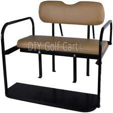 EZGO TXT Golf Cart Rear Stationary Rear Seat Kit   Back Seat (TAN)