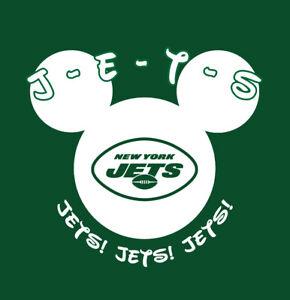 New York Jets Disney World Disneyland shirt Mickey Mouse vacation zach wilson