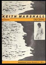 ONLY CRYING - Keith Marshall -- SPARTITO -  Chitarra o Fisarmonica,  Testo