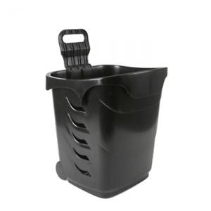 Easy Shopper - 38 Litre Wheeled Shopping Basket - Black