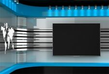 Studio Backdrop Blue High Tech Tv Wall Photo Portrait Photography Background 7x5