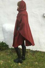 Ladies Red Cape Coat 14 16 18 Wrap Wool Angora Hood 42 44 46 Vintage Irish Xmas