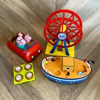 Peppa Pig Toy Bundle - Car, Grandad Pigs Boat, Ferris Wheel, Cakes