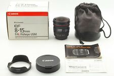 FedEx [TOP MINT in BOX] Canon EF 8-15mm f/4 L Fisheye USM Lens + Case From JAPAN