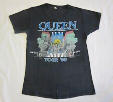 QUEEN  :  OFFICIAL 1980 CONCERT T-SHIRT - THE GAME TOUR - FREDDIE MERCURY