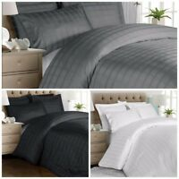 Chezmoi Collection 3-piece Solid Plaid Woven Cotton 300 TC Duvet Cover Set